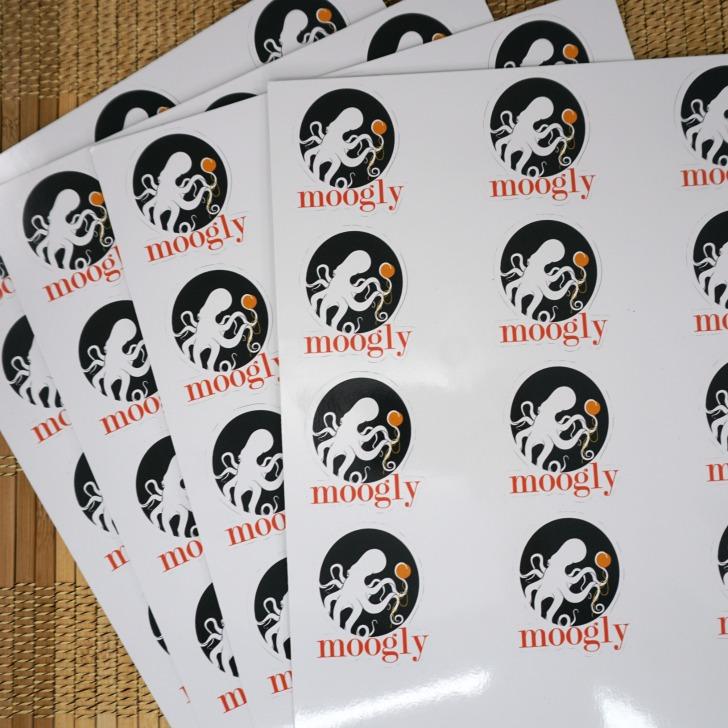 Moogly Logo Stickers by Sticker You