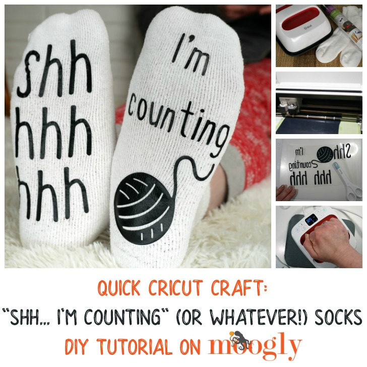 Quick Cricut Craft - Shh I'm Counting Socks