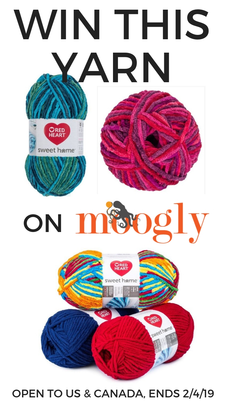 Red Heart Sweet Home Giveaway on Moogly, open to US and Canada, ends 3/4/19 at 12:15am Central