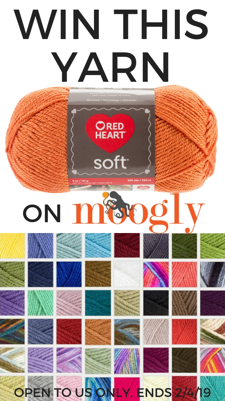 Red Heart Yarn Giveaway - Win 9 balls of Soft on Moogly!