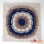 Right Round Square: Free 12″ Crochet Block Pattern