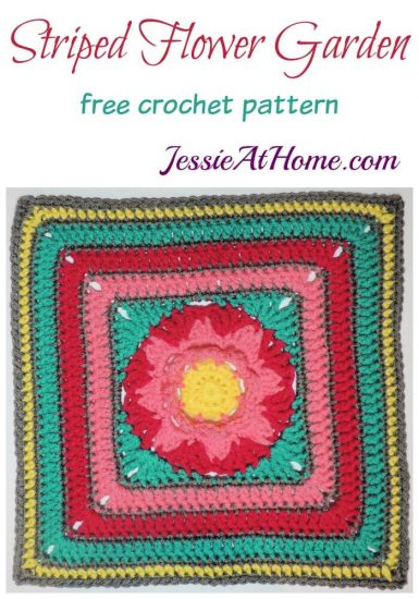 Striped Flower Garden Square by Jessie At Home