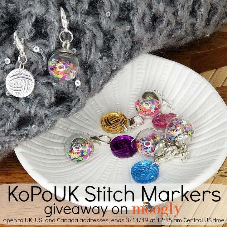 KoPoUK Stitch Markers Giveaway on Moogly! See post for details!