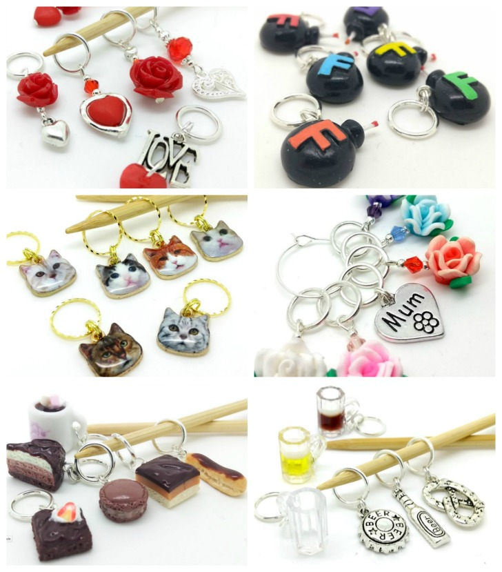 KoPoUK Stitch Markers Collage