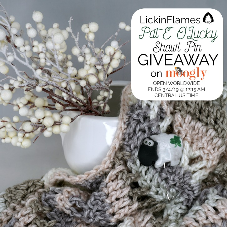 Pat E O'Lucky Shawl Pin Giveaway from LickinFlames on Moogly