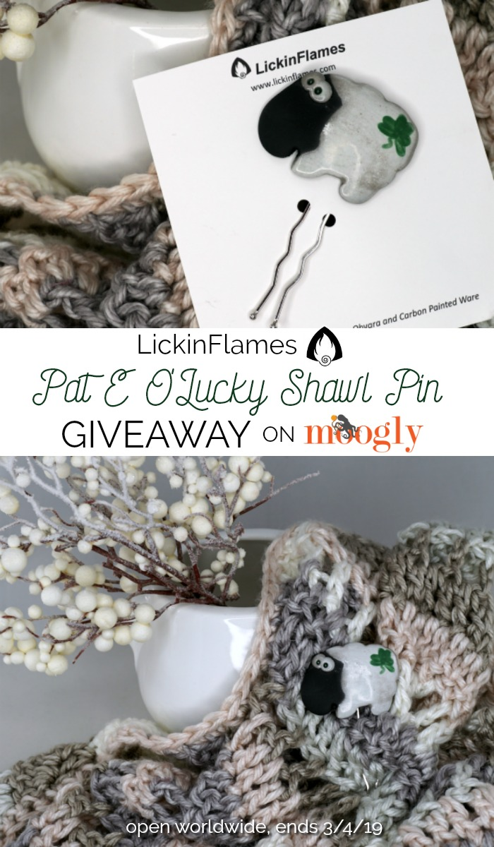 Pat E O'Lucky Shawl Pin - giveaway on Moogly!