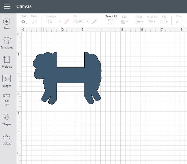 Sheep yarn bobbin ready to cut - instructions on Moogly!