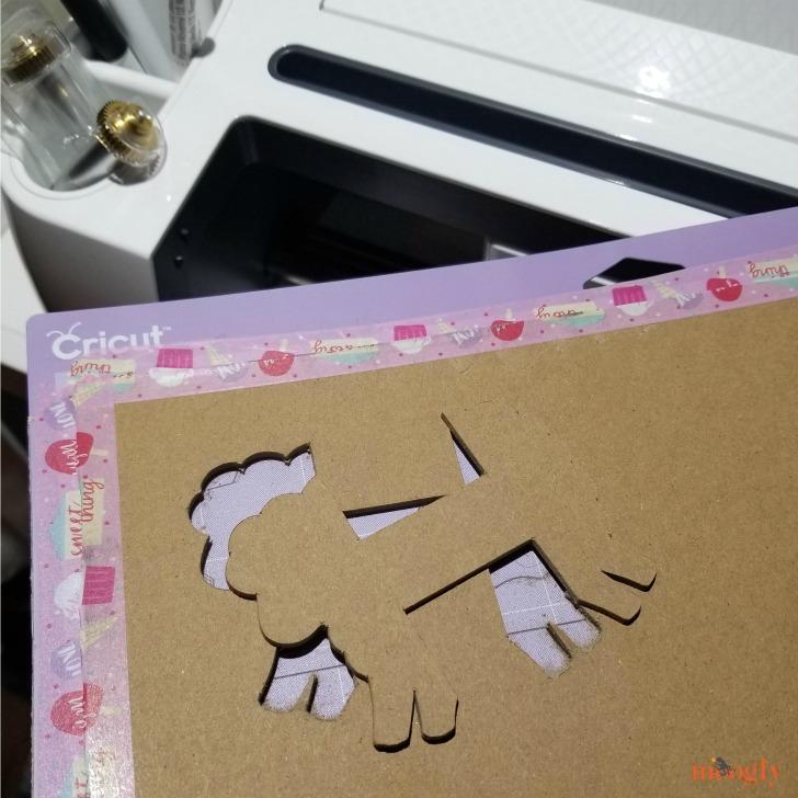 Sheep Yarn Bobbins - freshly cut on Cricut Maker, tutorial on Moogly