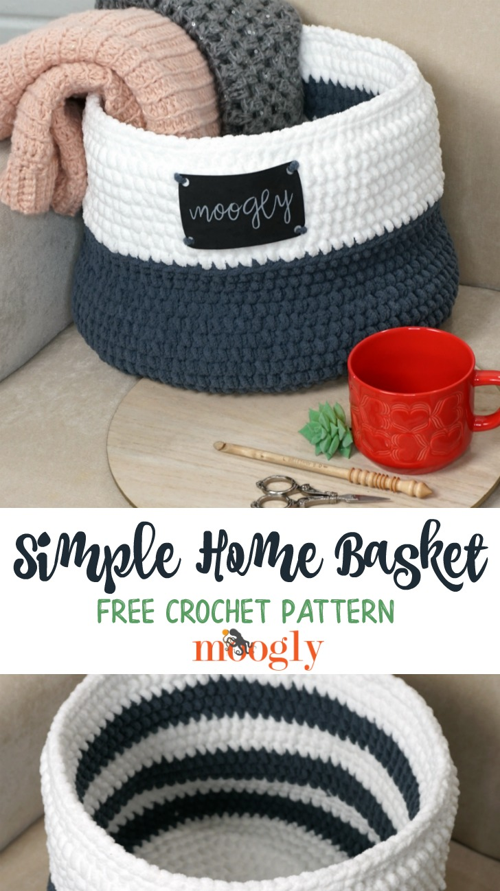 Simple Home Basket - pinterest image