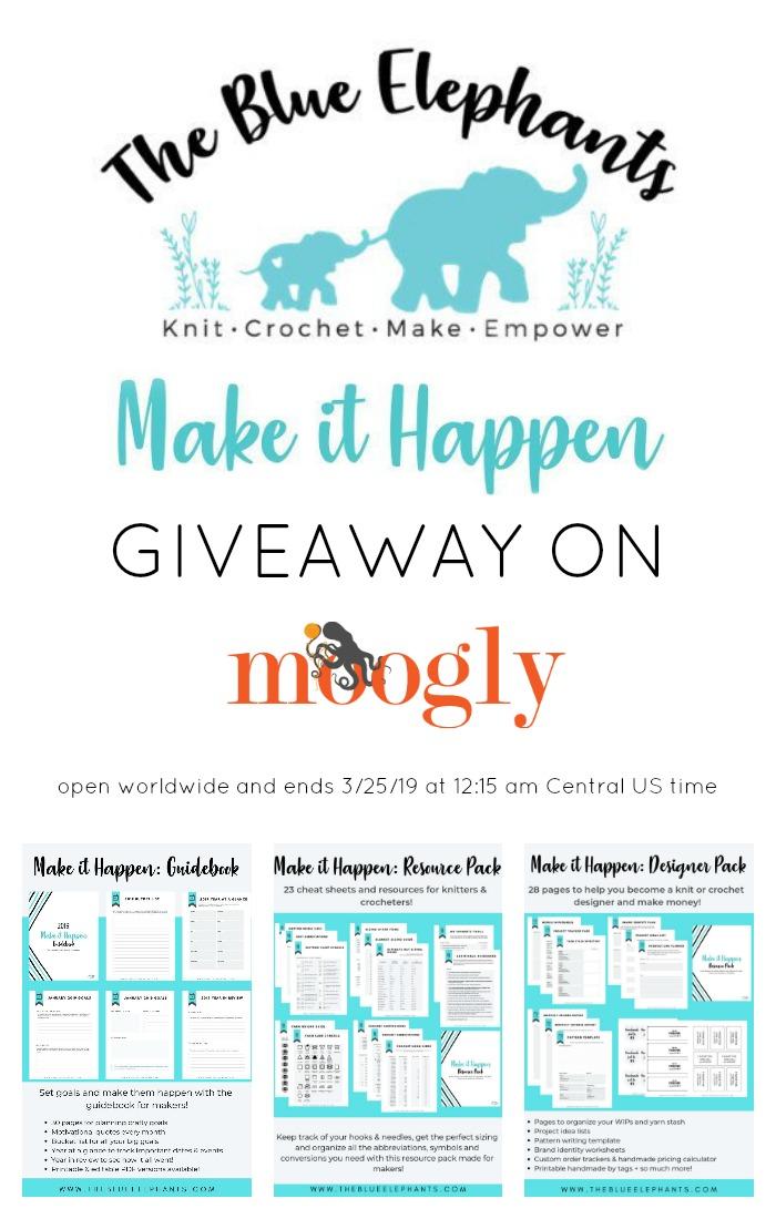 The Blue Elephants Make It Happen Giveaway on Moogly - PINSTA