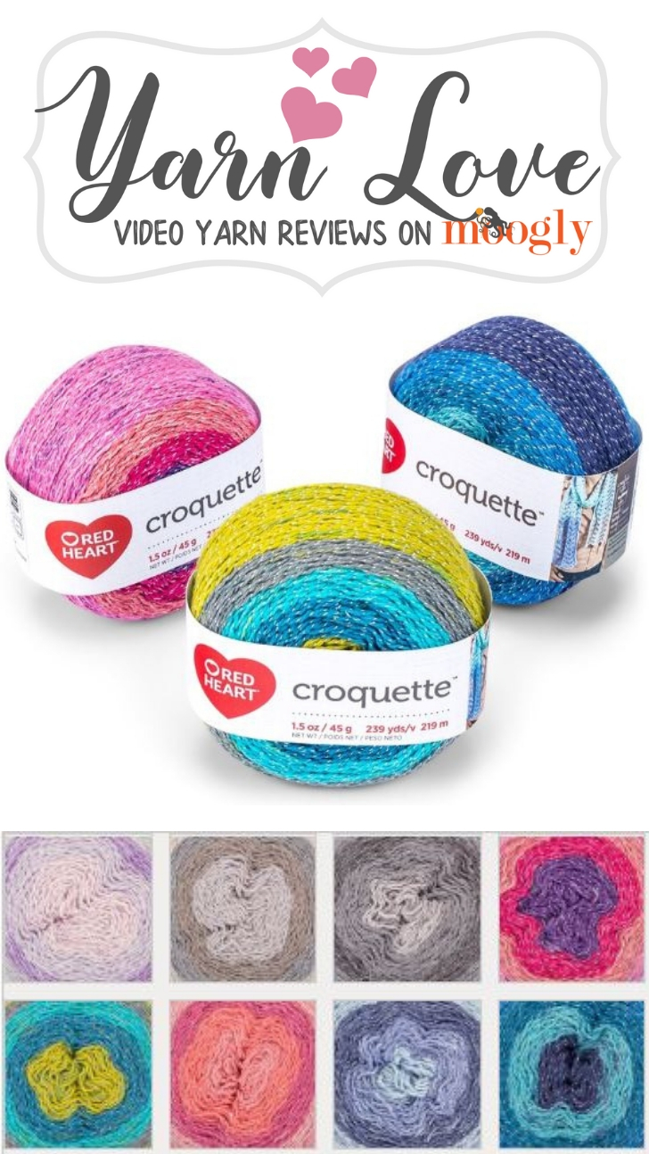 Yarn Love: Red Heart Croquette, get a closer look at this new yarn on Moogly!