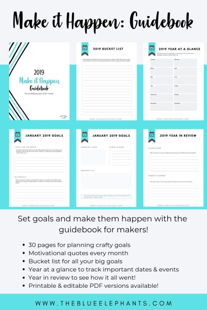 Make It Happen - Win a set of amazing printable PDFs for knitters and crochets in this Moogly GIveaway!
