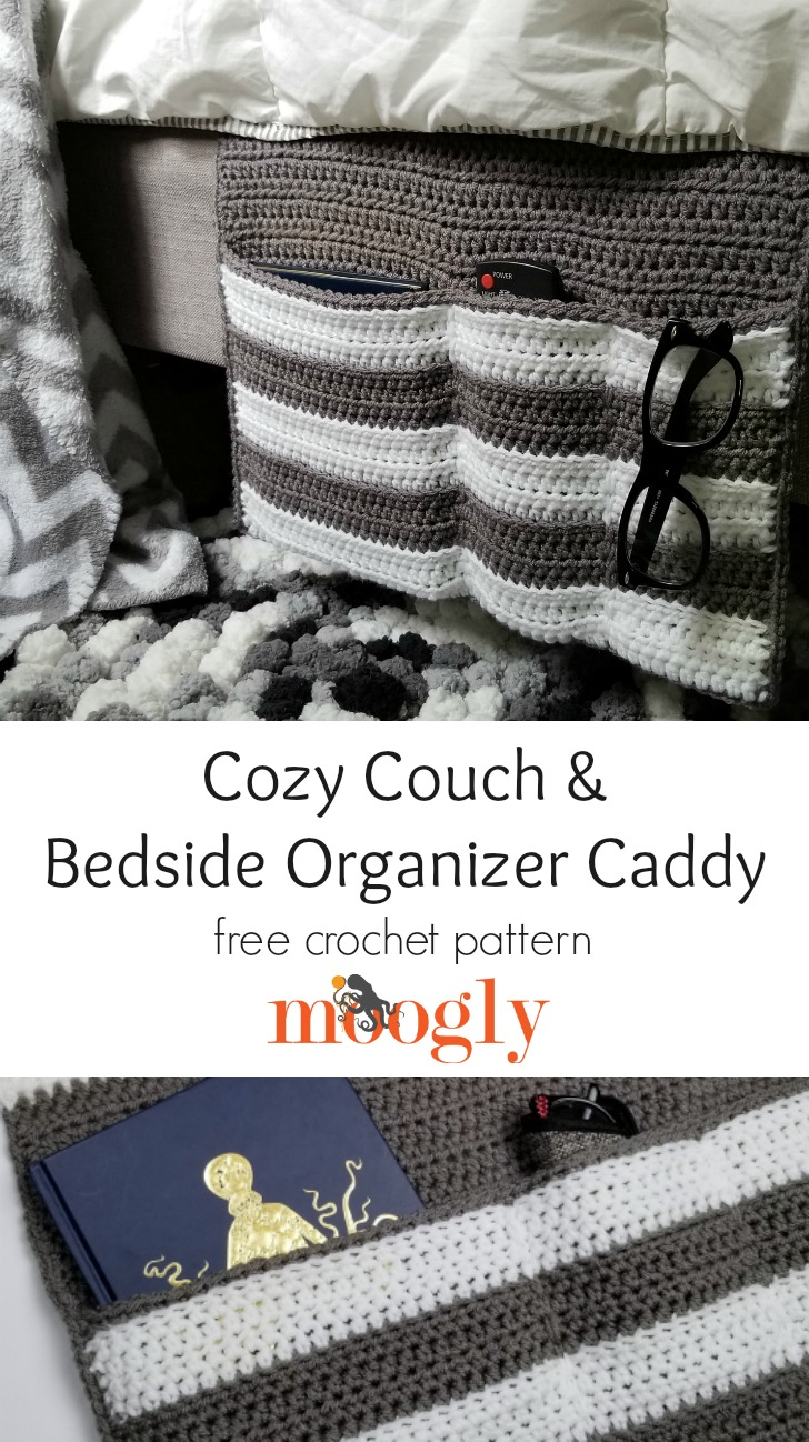 Cozy Couch and Bedside Organizer Caddy - Pinterest collage