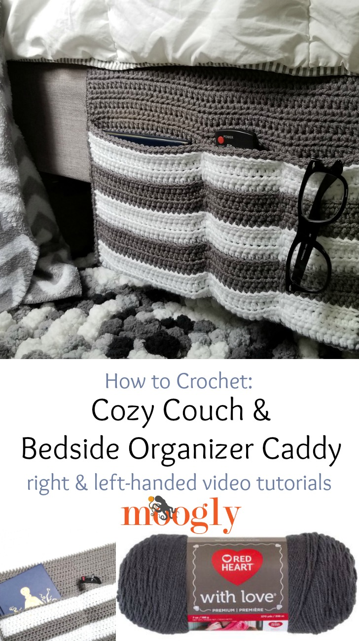 Cozy Couch and Bedside Organizer Caddy Tutorial pinterest