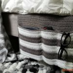 Cozy Couch and Bedside Organizer Caddy - on bed
