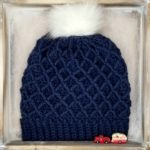 Diamond Crochet Hat - square image, free pattern on Moogly