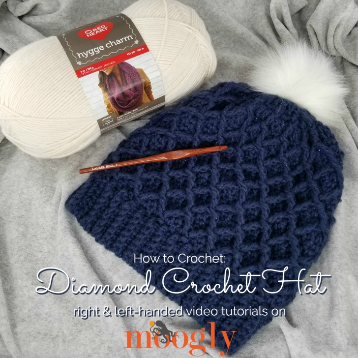 Diamond Crochet Hat Tutorial Right Left Handed On Moogly