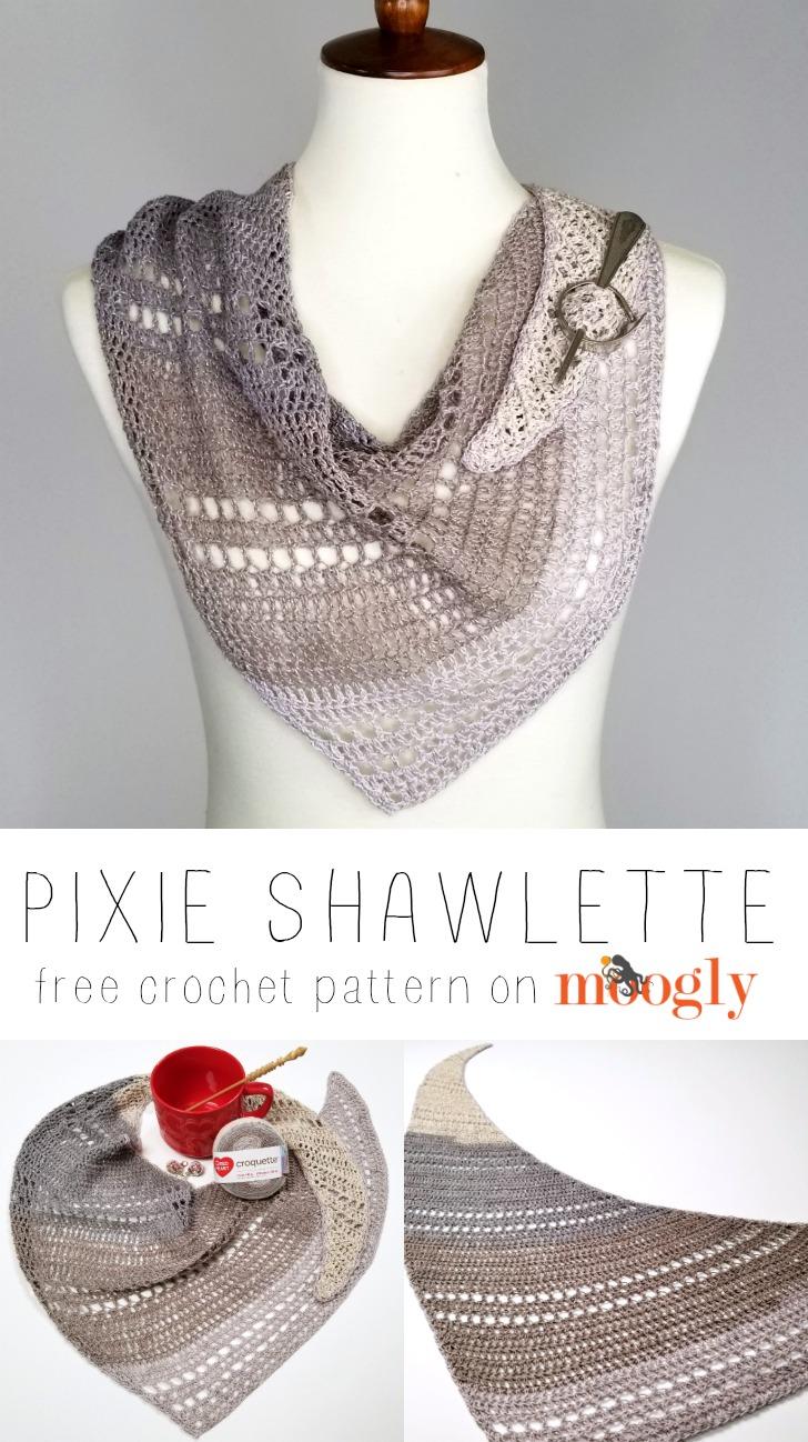 Pixie Shawlette - Pinterest image