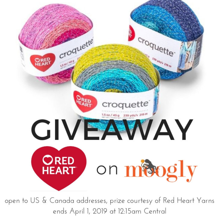 Red Heart Croquette Giveaway on Moogly