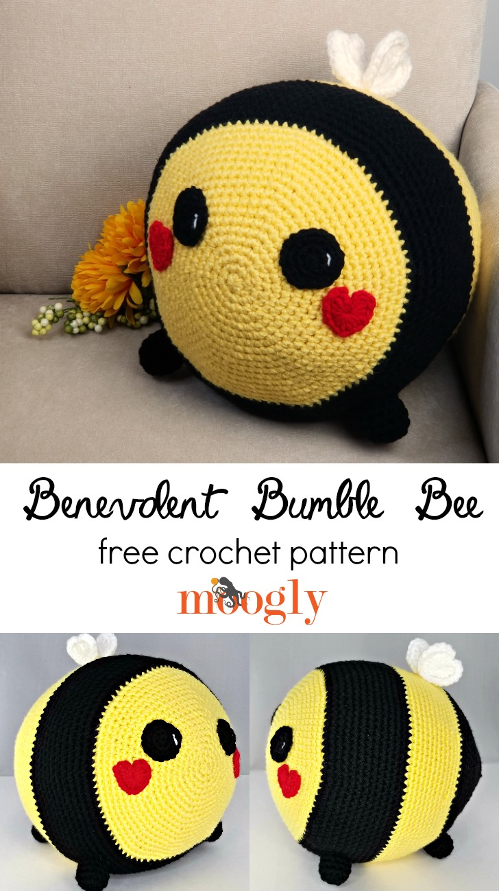 Benevolent Bumble Bee - free crochet pattern on Moogly