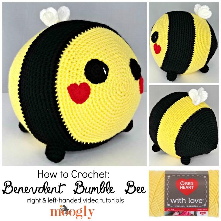 Benevolent Bumble Bee - Free Crochet Pattern on Moogly | 728x728