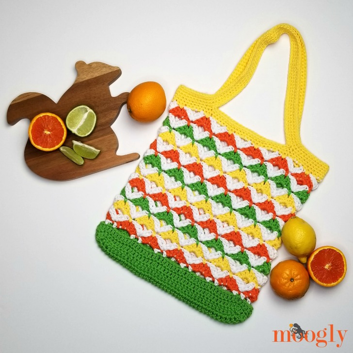 Citrus Twist Tote - free crochet pattern on Moogly