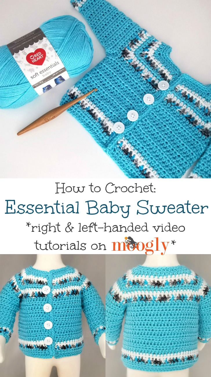 Essential Baby Sweater Tutorial Pin Collage