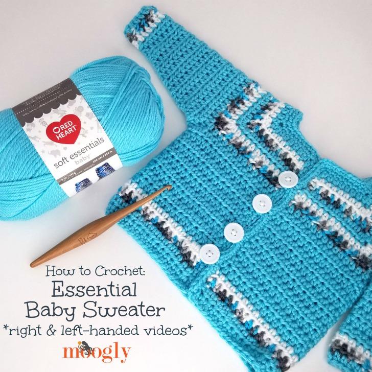 4902debff Essential Baby Sweater Tutorial - Videos on Moogly