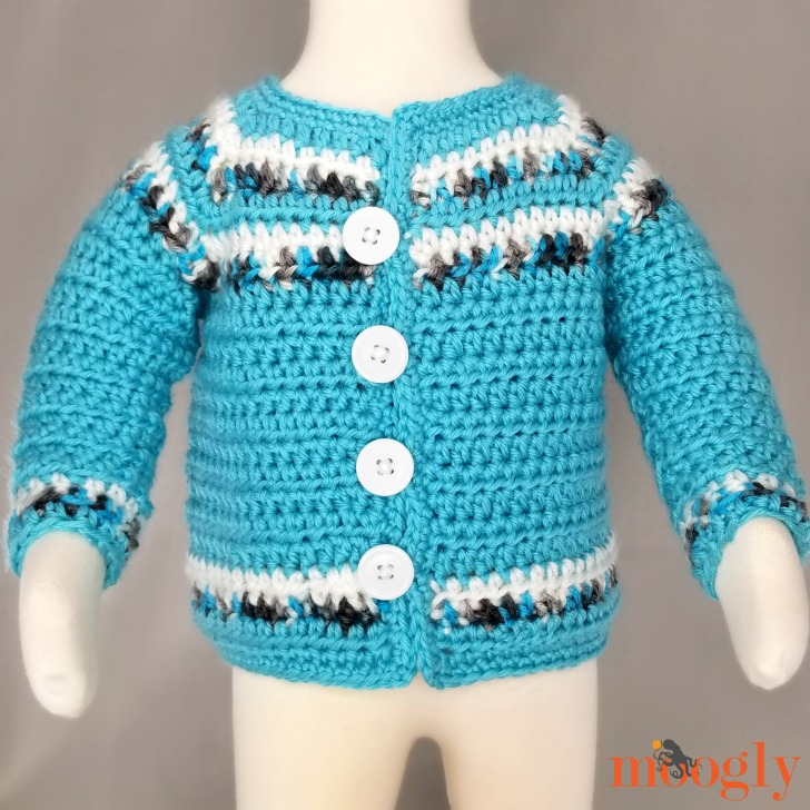 Essential Baby Sweater - front, modeled