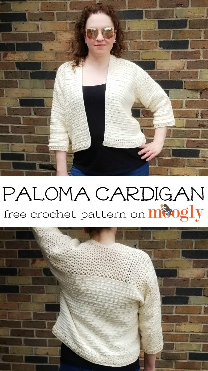 Paloma Cardigan - free crochet pattern in sizes Small to 5X on Moogly!
