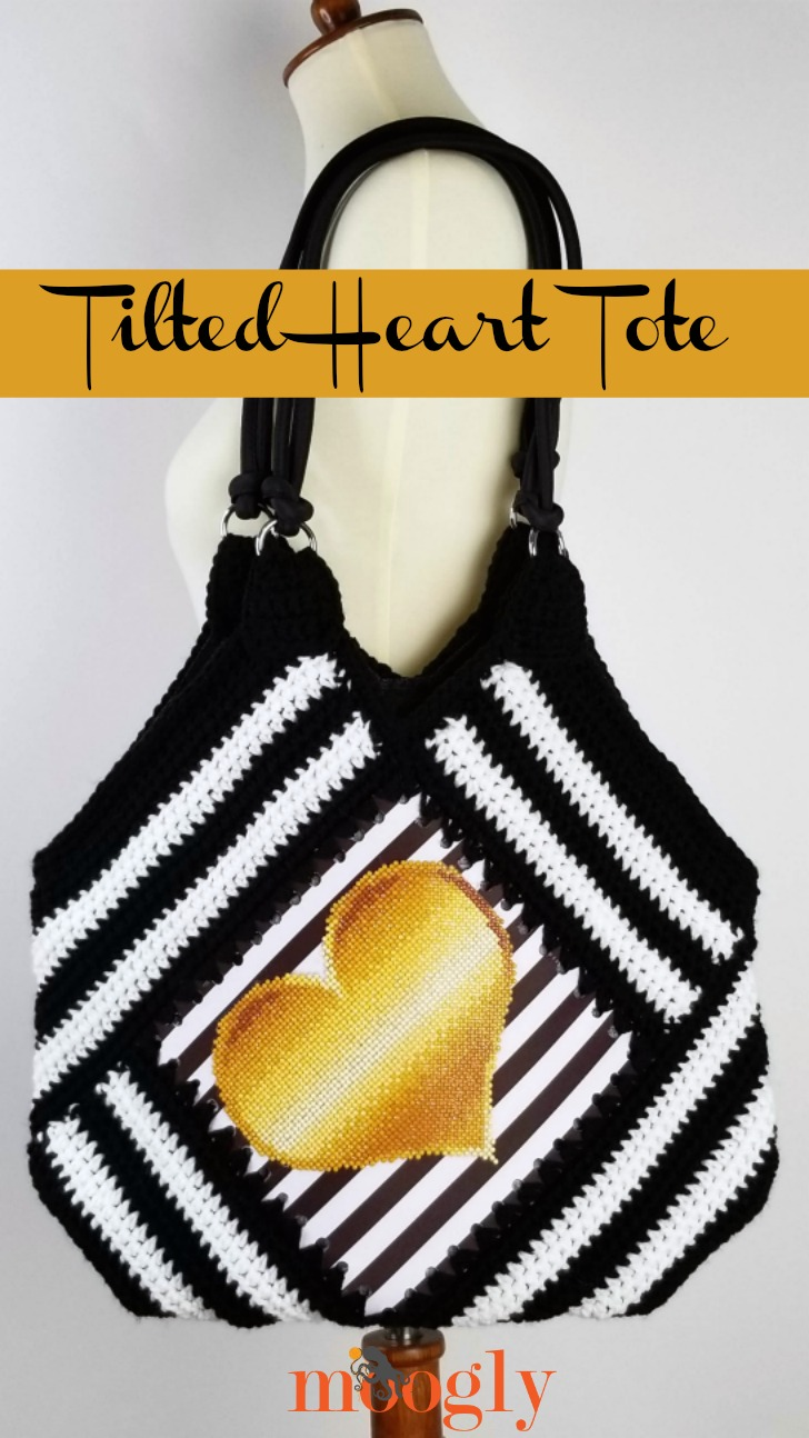 Tilted Heart Tote - on a mannequin