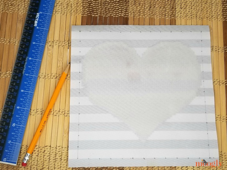 Tilted Heart Tote - mark holes