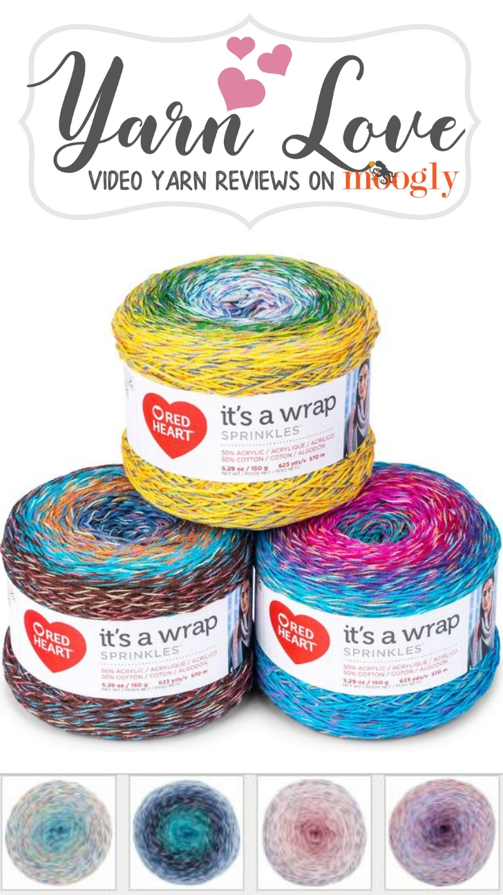 Yarn Love- Red Heart It's A Wrap Sprinkles review on Moogly!