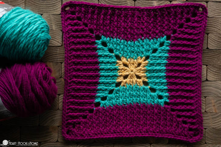 Butterfly Vibe Afghan Square by Heart Hook Home - Block #9 in the MooglyCAL2019!