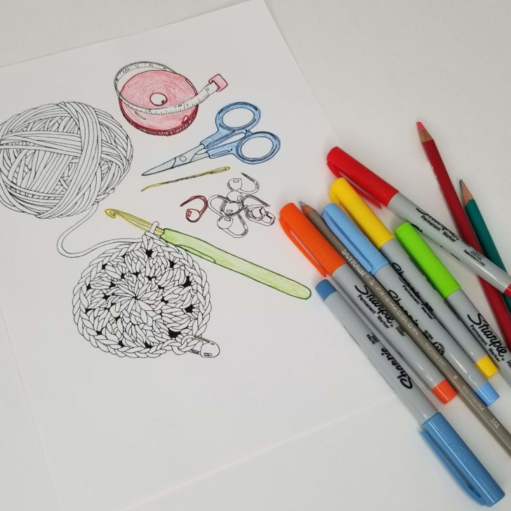 Crochet Themed Coloring Pages Giveaway For All moogly
