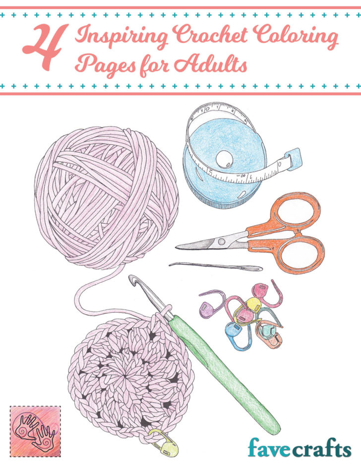 Crochet Themed Coloring Pages by Andee Graves - free on Moogly!