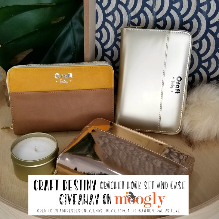 Craft Destiny Crochet Hook Set and Case Giveaway on Moogly - SM