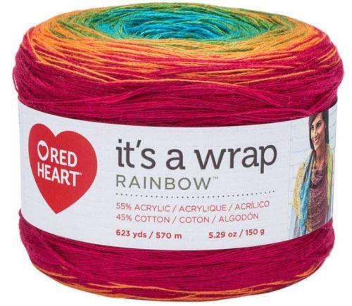 Red Heart It's A Wrap Rainbow - Fiesta