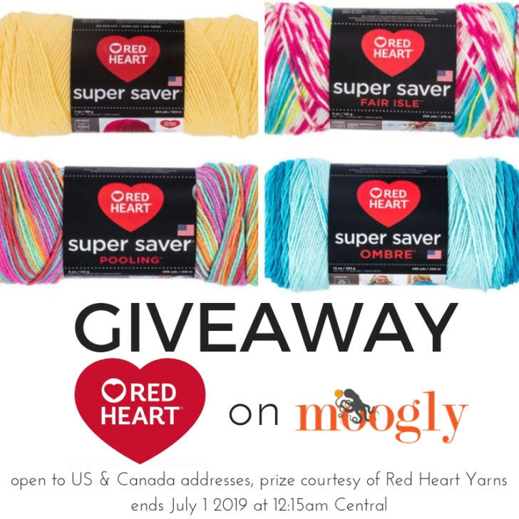 Red Heart Super Saver Giveaway on Moogly