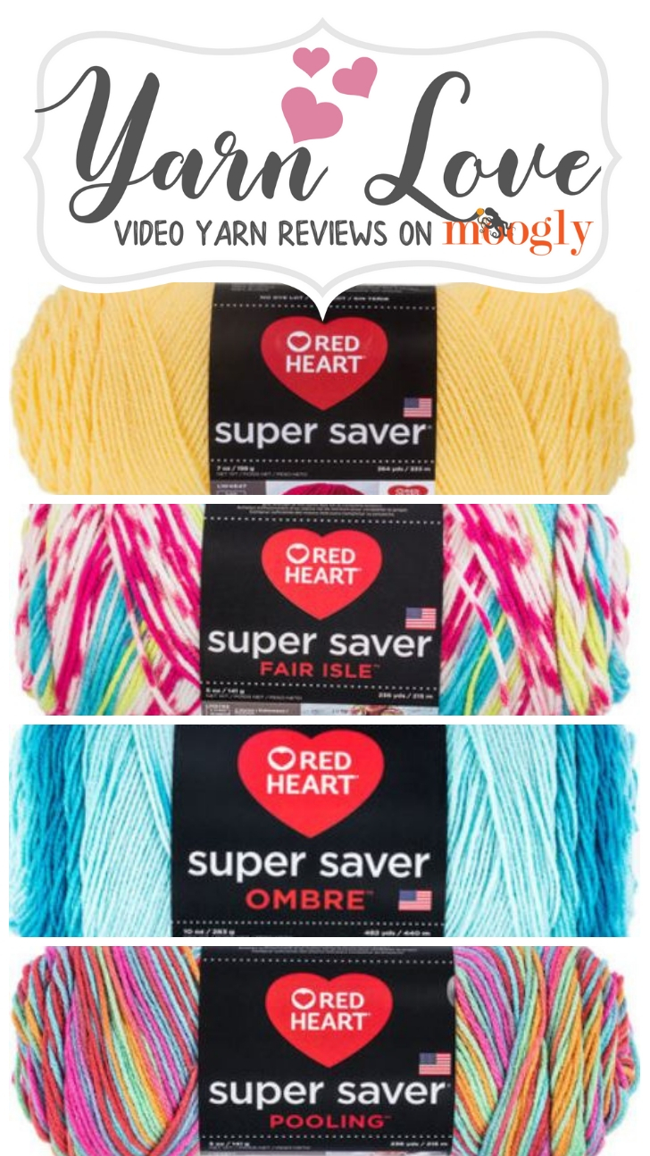 Yarn Love- Red Heart Super Saver Pinnable Image