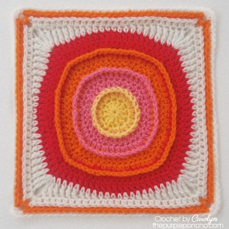 Center Circle Square by The Purple Poncho