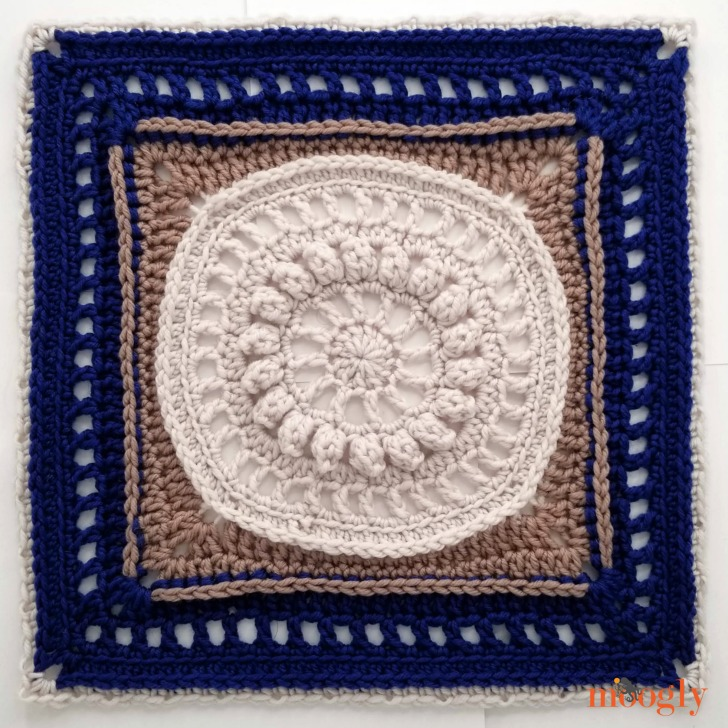 "Every Little Thing Square: Free 12"" Crochet Block Pattern by Mooglyblog.com"