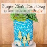 Finger Chain Can Cozy - photo tutorial on Moogly!
