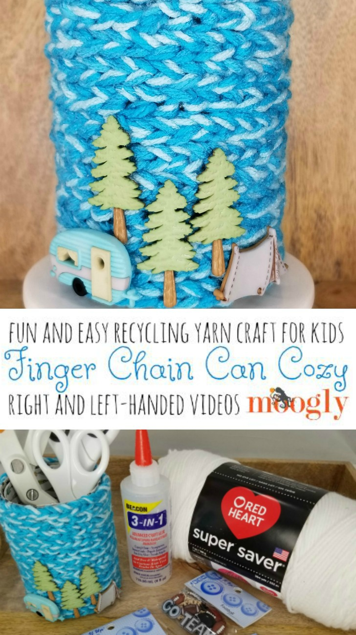 Finger Chain Can Cozy Tutorial Videos on Moogly!