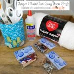 Finger Chain Can Cozy Yarn Craft Tutorial on Moogly