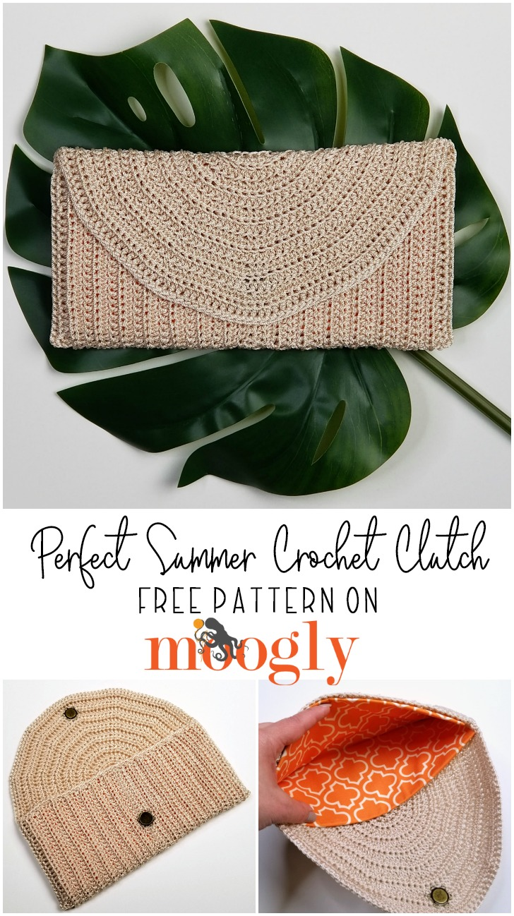 Perfect Summer Crochet Clutch - Get the free pattern on Mooglyblog.com