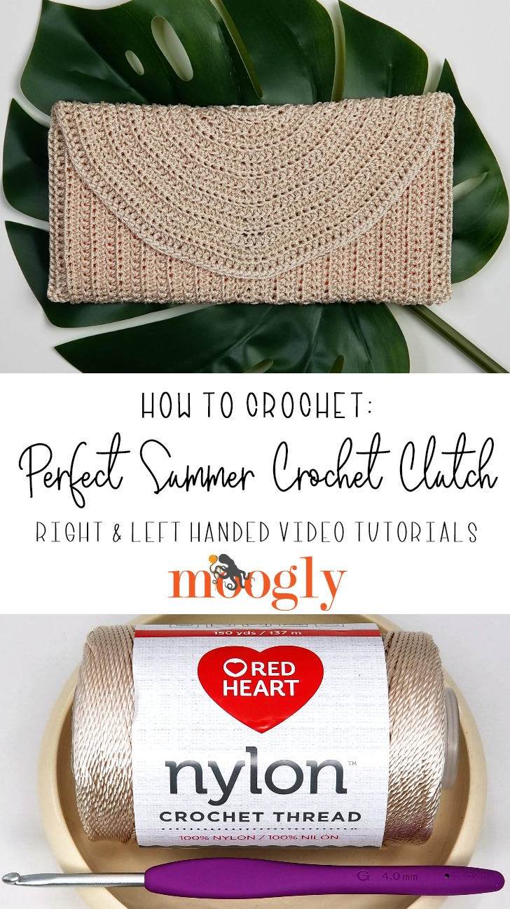 Perfect Summer Crochet Clutch Tutorial on Mooglyblog.com