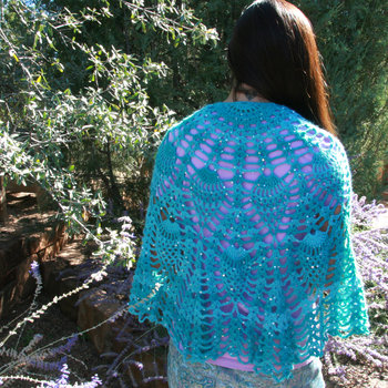 Pineapple Passion by Karen Whooley - blue shawl