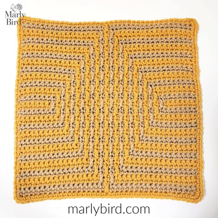 Chic Modern Mosaic Diamond Square by Marly Bird - Block #15 in the MooglyCAL2019