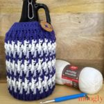 Beer Growler Cozy - free crochet pattern on Moogly made with Red Heart Scrubby Smoothie
